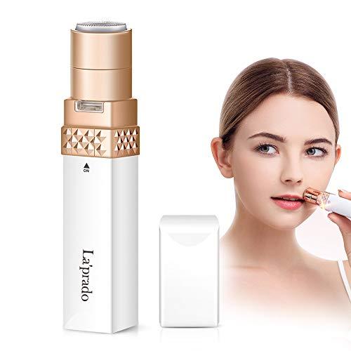 Elektrisch Rasierer Damen, La'prado Flawless Gesichtshaarentferner für Frauen mit LED-Licht, Intimbereich Hair Remover für Gesicht, Lippe, Finger, Wange, Achsel...