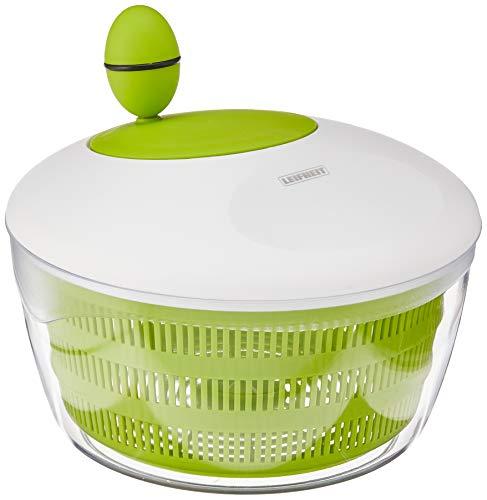 Leifheit Salatschleuder Colour Edition classic green für Rechts und Linkshänder, Salatschüssel zum Servieren, Küchenhelfer in trendiger Farbe