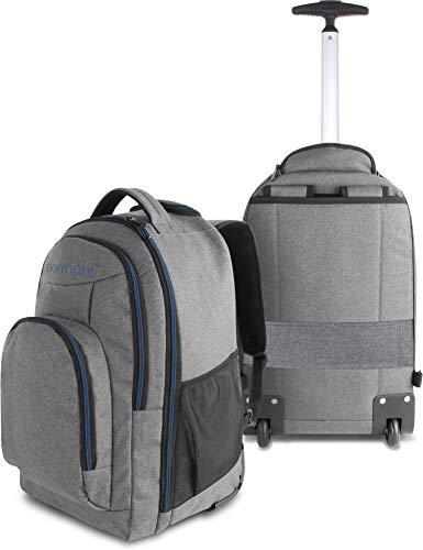 normani Rucksack mit Trolleyfunktion - 30 Liter Volumen Rucksacktrolley zum ziehen mit Laptopfach für Schule, Uni, Reisen, Ausflüge oder Einkaufen Farbe Blau