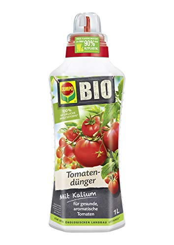 Compo BIO Tomatendünger für alle Tomatenpflanzen, Natürlicher Spezial-Flüssigdünger, 1 Liter