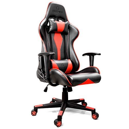 iHomy Multifunktionaler Gaming Stuhl Großer tragender Gaming-Stuhl bis 200KG Premium Schreibtischstuhl Bürostuhl Gamer Ergonomischer Stuhl mit Einstellbarer...
