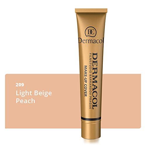 Dermacol Deckendes Make-up Cover für Gesicht und Hals - Wasserfeste Foundation mit LSF 30 für einen makellosen Teint - 209, 30g