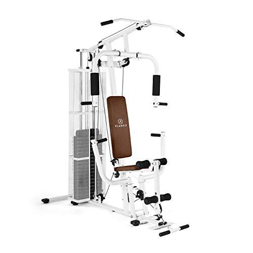 Klarfit Ultimate Gym 3000 - Kraftstation, multifunktionale Fitnessstation für Ganzkörpertraining, für mehr als 30 Übungen, Seilzug, Butterfly-Modul,...