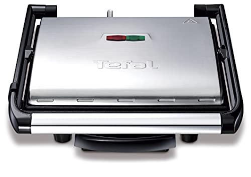 Tefal Kontaktgrill Inicio GC241D | Elektrogrill / Sandwichtoaster | Fettarmes Grillen | Panini, Toasts, Steak, Gemüse | Antihaftbeschichtete gerillte Grillplatten |...