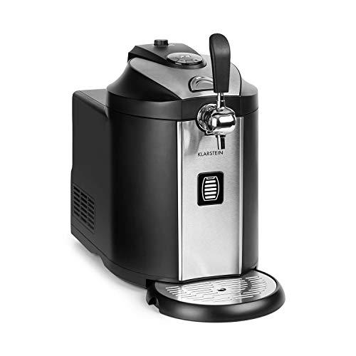 Klarstein Beerkules Bierzapfanlage Bierkühler/für alle 5 l Fässer/Druckmittel: CO2 / UltraFast Cooling Technologie: Kühlung in 4 h/Gehäuse: Kunststoff &...