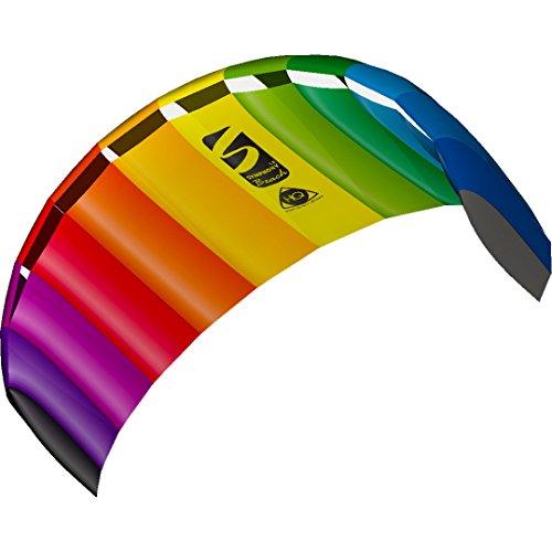 HQ 11768250 - Symphony Beach III 1.8 Rainbow, Zweileiner Lenkmatten, ab 12 Jahren, 60x180cm, inkl. 70 kp Blendlineschnüre 2x25m auf Winder mit Schlaufen, 2-6...