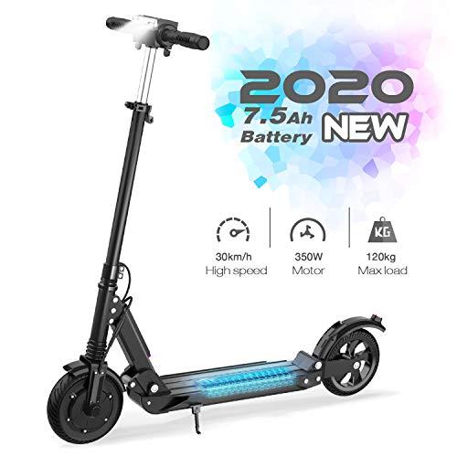 GeekMe Elektroroller E-Scooter Zusammenklappbarer Elektroroller Roller mit 3 Geschwindigkeitsmodi Bis zu 30 km/h | 7,5 A Li-Ionen-Akku | Maximale Belastung von 120...