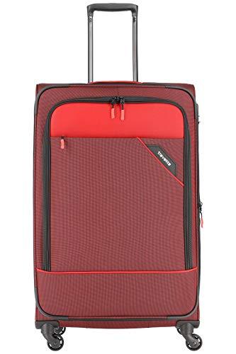 """Travelite Rollkoffer """"Derby"""": klassisch, robuster und leichter Weichgepäck Trolley mit 4 Rollen in 4 Farben Koffer, 77 cm, 102 Liter, Rot"""