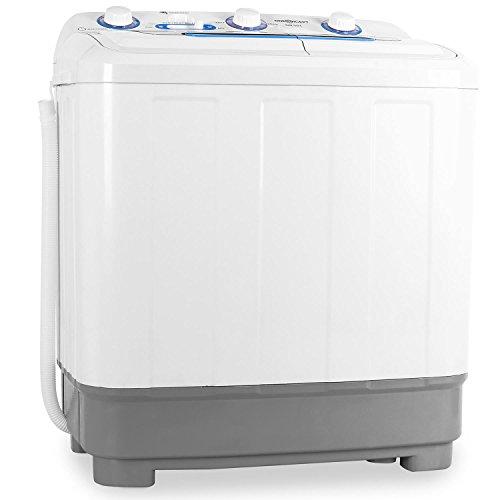 oneConcept DB004 - mini washing machine, camping washing machine, washing machine for singles, 4.8kg volume, spin dryer, 380 W washing power, 160 W ...