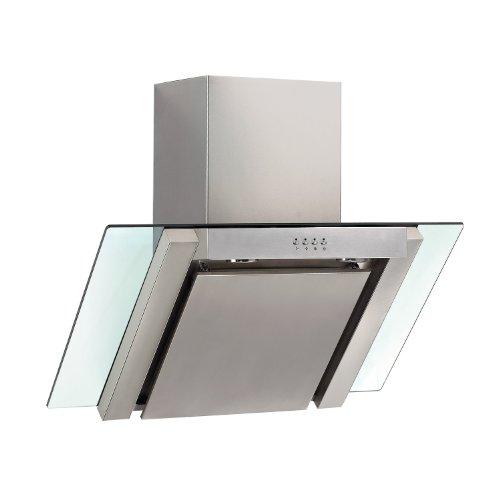 PKM RH-9860 Dunstabzugshaube / 60 cm / 700 m3/h / 3 Stufen / Abluft / Edelstahl, Glas