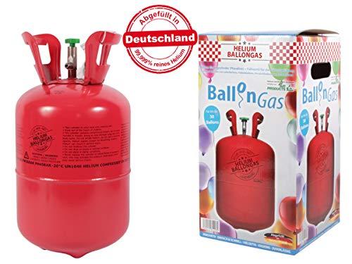 Falkenheyn Gratis Bügelpatch zufällige Auswahl mit PartyFactory Heliumgasflasche Heliumgas Ballons Helium Flasche Gasflasche Balloon Gas Ballongas Einweg (für ca....