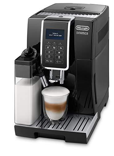 De'Longhi Dinamica ECAM 350.55.B – Kaffeevollautomat mit integriertem Milchsystem, Digitaldisplay mit beleuchteten Tasten, automatische Reinigung,...