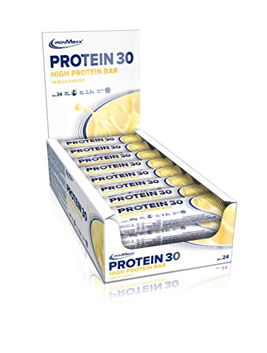 IronMaxx Protein 30 - protein bar with less than 1g sugar (low in sugar) & without palm oil - soft protein bar - addition of vitamins - high protein - ...
