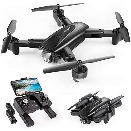 SNAPTAIN SP500 Faltbare GPS FPV Drohne mit 1080P Full HD Kamera-Live-Video, GPS Drohne mit GPS-Heimkehr und Gestensteuerung, Kreis fliegen, Follow-Me-Modus und 5G...