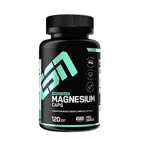 ESN Magnesium Caps – 120 Kapseln – Top: Magnesium-Bisglycinat (Magnesium-Chelat) – pro Kapsel 150 mg elementares Magnesium – Laborgeprüfte Qualität, vegan,...