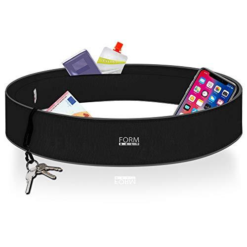 Formbelt® Laufgürtel für Handy Smartphone iPhone 11 X XS Max 8 XR 6-s 7+ Plus Samsung Galaxy S7 S8 S9 S10 + Hüfttasche für Running Sport Fitness Bauchtasche...