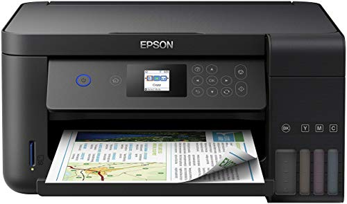 Epson EcoTank ET-2750 3-in-1 Tintenstrahl Multifunktionsgerät (Kopierer, Scanner, Drucker, DIN A4, Duplex, WiFi, Display, USB 2.0), großer Tintentank, hohe...