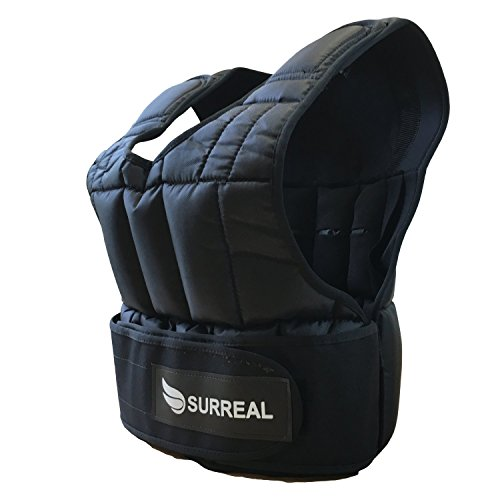 Surreal weight vest, adjustable, available weight: 5 / 10 / 15 / 20 / 30 kg, for weight loss / fitness training, 5 kg