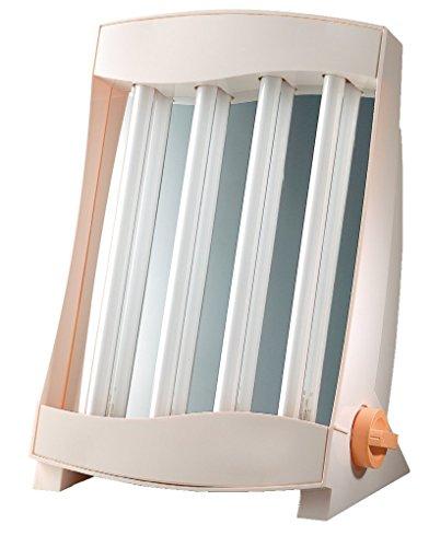 Efbe-Schott Wohlfühl-Gesichtssolarium mit 8 Röhren, 105 W, Memory-Funktion, Inklusive 2 Schutzbrillen, Weiß, SC GB 838 C N