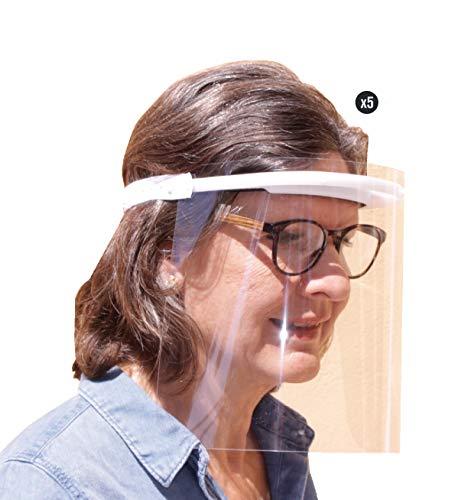 KMINA PRO - Visier Gesichtsschutz (5 Stück), Visier, Gesichtsschutz, Visier Gesichtsschutz für Brille, Schutz Gesicht, Face Shield, Schutzvisier Gesicht,...