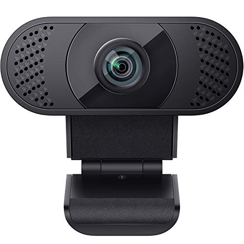 wansview Webcam 1080P mit Mikrofon, Webcam USB 2.0 Plug und Play für Laptop, PC, Desktop, mit automatischer Lichtkorrektur, für Live-Streaming, Videoanruf,...