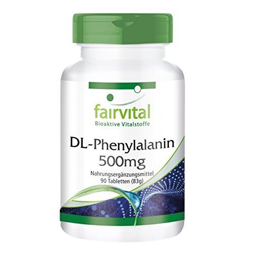 DL-Phenylalanin 500mg - HOCHDOSIERT - VEGAN - 90 Tabletten - DLPA