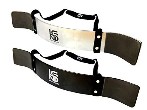 LEGEND Arm Blaster Bizeps Isolator fr Bodybuilding, Kraftsport & Gewichtheben - Bizepstrainer (Silber)