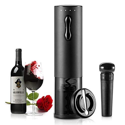 TOQIBO Elektrischer Korkenzieher,6 Sekunden Automatisch Flaschenöffner Schnurlos Weinöffner,Weinflaschenöffner Set mit Wine Folienschneider & Vakuum Stopper &...
