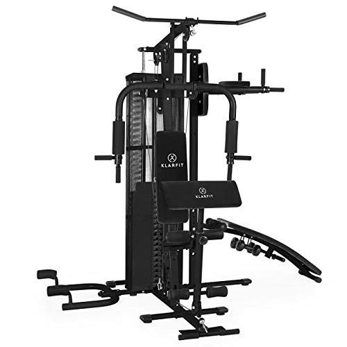 Klarfit Ultimate Gym 5000 - Heimtrainer, Trainingsstation, Kraftstation, multifunktionale Fitnessstation, für über 50 Übungen, Ganzkörpertraining, inkl....