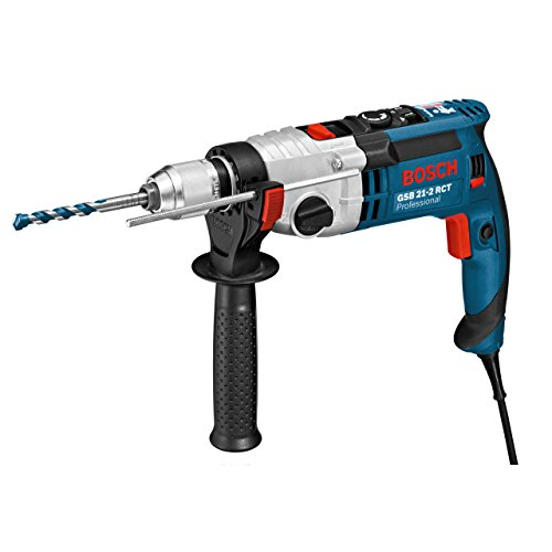 Bosch Professional Schlagbohrmaschine GSB 21-2 RCT (Schnellspannbohrfutter: 13 mm, Tiefenanschlag: 210 mm, Zusatzhandgriff, Koffer, Bohr-Ø in Beton: 13 - 22 mm,...
