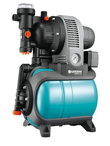 GARDENA Classic Hauswasserwerk 3000/4 eco: Hauswasserpumpe mit Thermoschutzschalter, Rückschlagventil, Start/Stop Automatik, 650W Leistung, max. Fördermenge 2800...