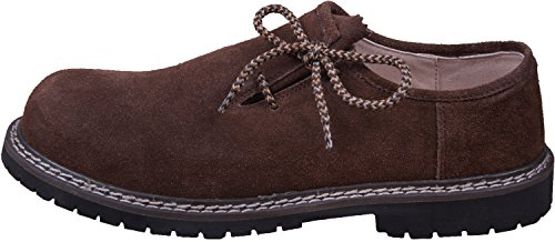 Almwerk Herren Trachtenschuh aus echtem Leder, Schuhgröße:EUR 43, Farbe:Dunkelbraun