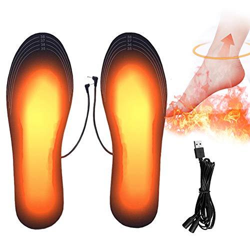 PINPOXE Fußwärmer, Beheizbare Einlegesohlen, Sohlenwärmer, Wärmesohle,Schuhheizung, Beheizbare Thermosohle, Beheizbare Einlegesohlen Thermosohlen, Größe: 41-46...
