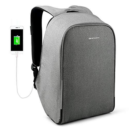 Kopack Anti Diebstahl Wasserdicht Laptop Rucksack 15,6 Zoll mit USB Ladeanschluss Diebstahlsicher Reiserucksack Business Backpack Tasche für Herren Damen für...