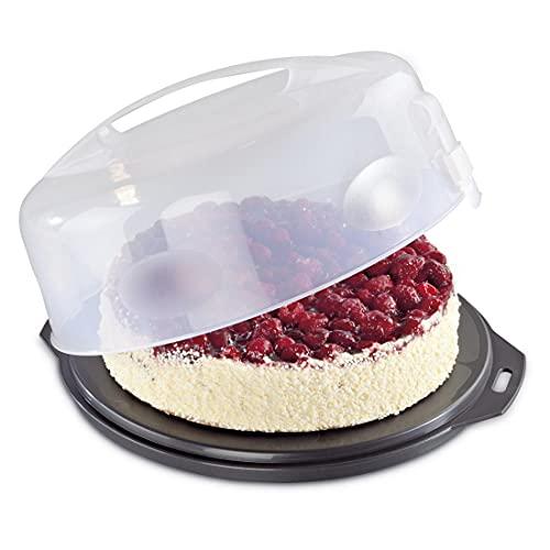 Xavax 111514 Kuchen-Transportbox rund mit Deckel (Kuchenbehälter...