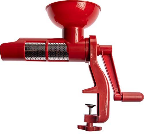 Browin Manuelle Passiermaschine, Speisensieb und Soßenmaschine für Tomaten, frisches Obst und Gemüse - aus rostfreiem Stahl, leicht zu handhaben, Kunststoff, Red,...