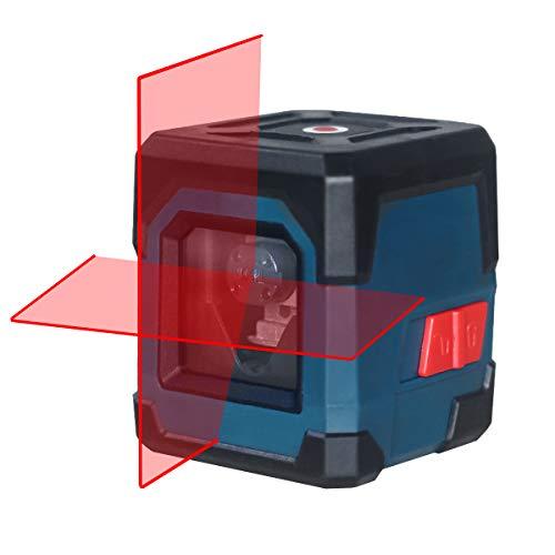 Kreuzlinienlaser, HANMATEK LV1 Kreuzlinien-Laser mit Messbereich 15M, IP 54 Umschaltbar Selbstnivellierende Vertikale und Horizontale Linie, 360 Grad Drehbar mit...