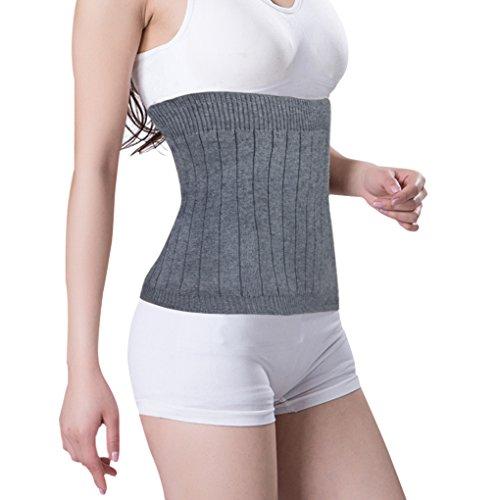Winter Weiche Kaschmir Nierenwärmer Rückenwärmer Elastisch Taille Unterstützung Taille Wärmer Taillen Beschützer Gürtel für Damen Herren Kinder grau