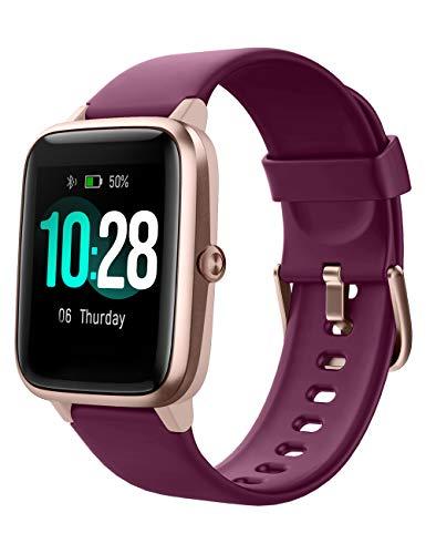 YAMAY Smartwatch,Fitness Armband mit Pulsuhren Fitness Tracker Wasserdicht IP68 Fitnessuhr Sportuhr Schrittzähler für Android iOS Handy Smart Watch mit...