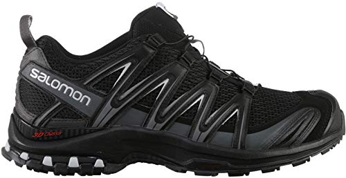 Salomon men's trail running shoes, XA PRO 3D, color: black (Black / Magnet / Quiet Shade) size: EU 46