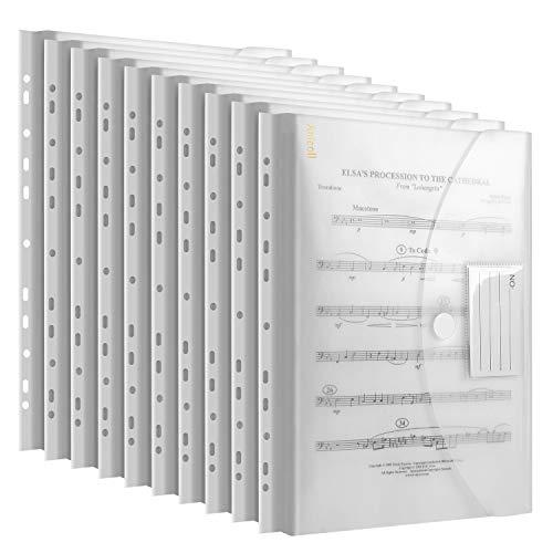 Dokumententasche A4 20 pack- dreidimensionale A4 Dokumentenmappe Sammelmappen für Dokumente Organisieren mit Binderlöcher/Klettverschluss und Etikettentasche...