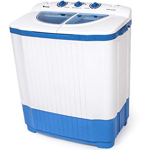 tectake 4,5 kg mini mini washing machine + 3,5 kg spin dryer combination