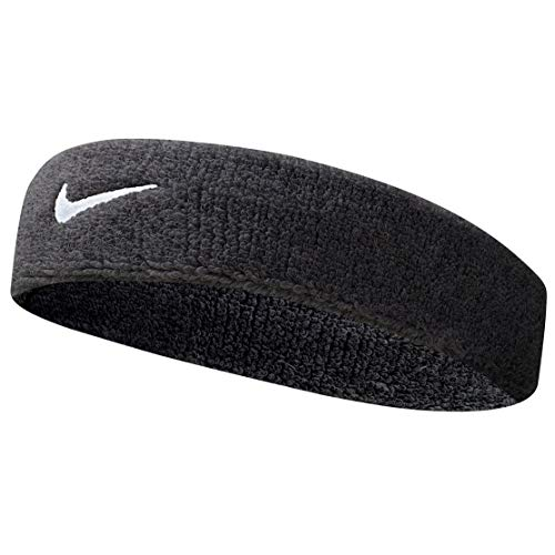 Nike Unisex Adult Swoosh Headband / Headband, Black (Black / white), One Size