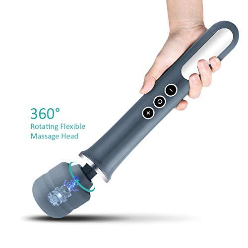 Massagestab,MANFLY Magic Handheld Massagegerät Massage mit 10 Vibrationsmodi for Schulter-Muskel-Schmerz-Nackenschmerzen