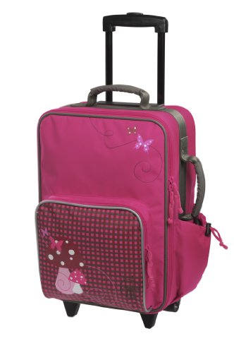 LÄSSIG Trolley Children's suitcase / travel case Mushroom magenta