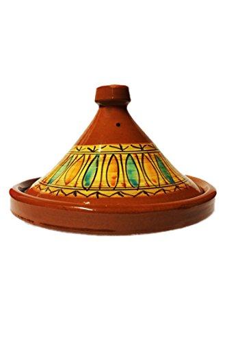 Marokkanische Tajine Topf zum Kochen   Schmortopf glasiert Gulnar Ø30cm 4-5 Personen   inklusive Rezept und Gebrauchsanweisung   ORIGINAL Tontopf handgetöpfert aus...