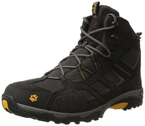 Jack Wolfskin Vojo Hike Mid Texapore Men Wasserdicht, Herren Trekking- & Wanderstiefel, Grau (Burly Yellow 3800), 40.5 EU