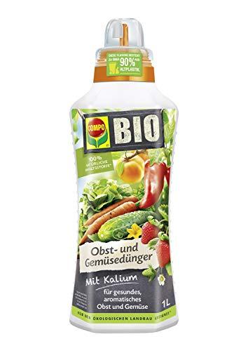 Compo BIO Obst- und Gemüsedünger für alle Obst- und Gemüsesorten, Natürlicher Spezial-Flüssigdünger, 1 Liter