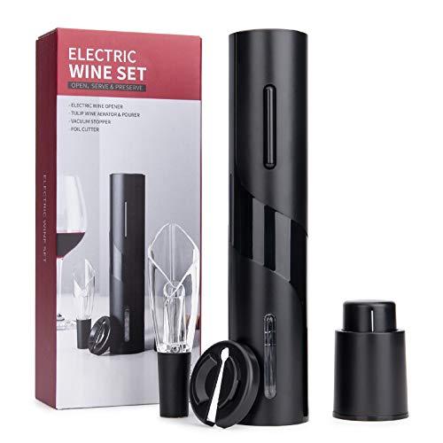 Elektrisches Weinflaschenöffner-Kit, Elektrischer Korkenzieher, Automatisch Flaschenöffner Schnurlos Weinöffner, Weinflaschenöffner Set enthält Folienschneider,...