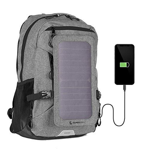 SUNNYBAG Explorer+ Solar-Rucksack mit abnehmbarem 6 Watt Solar-Panel | USB-Anschluss | Inklusive Laptop-Fach für 15,6 Zoll Notebook | 15 Liter | Wasserabweisend |...